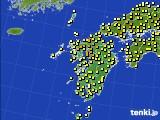 九州地方のアメダス実況(気温)(2020年05月22日)