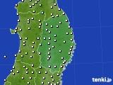 岩手県のアメダス実況(気温)(2020年05月22日)