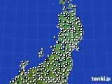 2020年05月22日の東北地方のアメダス(風向・風速)