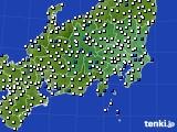 関東・甲信地方のアメダス実況(風向・風速)(2020年05月22日)