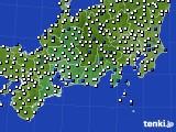 東海地方のアメダス実況(風向・風速)(2020年05月22日)