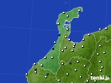 石川県のアメダス実況(風向・風速)(2020年05月22日)