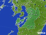 熊本県のアメダス実況(風向・風速)(2020年05月22日)