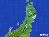 東北地方のアメダス実況(降水量)(2020年05月23日)