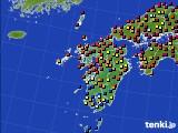 九州地方のアメダス実況(日照時間)(2020年05月23日)