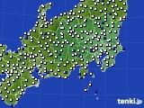 関東・甲信地方のアメダス実況(風向・風速)(2020年05月23日)