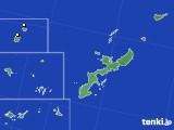 沖縄県のアメダス実況(降水量)(2020年05月24日)