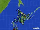 北海道地方のアメダス実況(日照時間)(2020年05月24日)