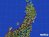 東北地方のアメダス実況(日照時間)(2020年05月24日)