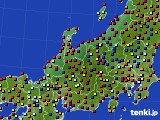 北陸地方のアメダス実況(日照時間)(2020年05月24日)