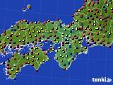 2020年05月24日の近畿地方のアメダス(日照時間)