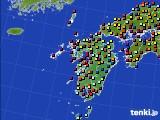 九州地方のアメダス実況(日照時間)(2020年05月24日)