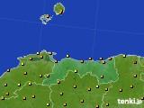 鳥取県のアメダス実況(気温)(2020年05月24日)