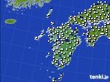 九州地方のアメダス実況(風向・風速)(2020年05月24日)