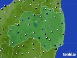 福島県のアメダス実況(風向・風速)(2020年05月24日)