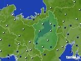 滋賀県のアメダス実況(風向・風速)(2020年05月24日)