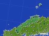島根県のアメダス実況(風向・風速)(2020年05月24日)