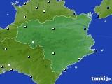 徳島県のアメダス実況(風向・風速)(2020年05月24日)