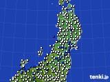 2020年05月27日の東北地方のアメダス(風向・風速)
