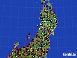 東北地方のアメダス実況(日照時間)(2020年05月28日)