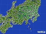 関東・甲信地方のアメダス実況(風向・風速)(2020年05月28日)