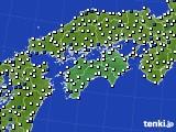 四国地方のアメダス実況(風向・風速)(2020年05月28日)