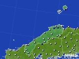 島根県のアメダス実況(風向・風速)(2020年05月28日)