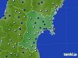 2020年05月28日の宮城県のアメダス(風向・風速)
