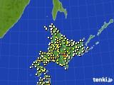 北海道地方のアメダス実況(気温)(2020年05月29日)