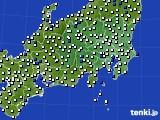 関東・甲信地方のアメダス実況(風向・風速)(2020年05月29日)