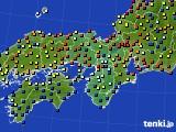 2020年05月30日の近畿地方のアメダス(日照時間)