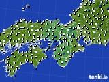 近畿地方のアメダス実況(風向・風速)(2020年05月30日)