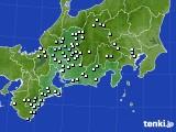 2020年05月31日の東海地方のアメダス(降水量)