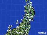 2020年05月31日の東北地方のアメダス(風向・風速)