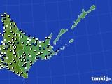 2020年05月31日の道東のアメダス(風向・風速)