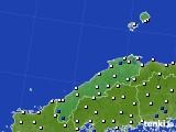 2020年05月31日の島根県のアメダス(風向・風速)