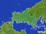 2020年05月31日の山口県のアメダス(風向・風速)