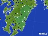 宮崎県のアメダス実況(風向・風速)(2020年05月31日)