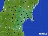 宮城県のアメダス実況(風向・風速)(2020年05月31日)