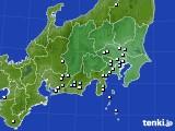 関東・甲信地方のアメダス実況(降水量)(2020年06月01日)