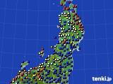 2020年06月01日の東北地方のアメダス(日照時間)