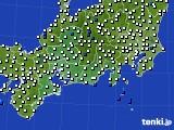 2020年06月01日の東海地方のアメダス(風向・風速)