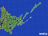 2020年06月01日の道東のアメダス(風向・風速)