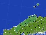 2020年06月01日の島根県のアメダス(風向・風速)