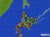 2020年06月02日の北海道地方のアメダス(日照時間)