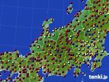 2020年06月02日の北陸地方のアメダス(日照時間)