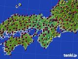 2020年06月02日の近畿地方のアメダス(日照時間)