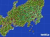 関東・甲信地方のアメダス実況(気温)(2020年06月02日)