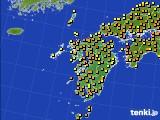 2020年06月02日の九州地方のアメダス(気温)