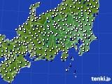 関東・甲信地方のアメダス実況(風向・風速)(2020年06月02日)